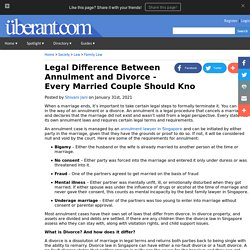 Legal Difference Between Annulment and Divorce - Every Married Couple Should Know