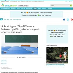 School types: The difference between public, private, magnet, charter, and more