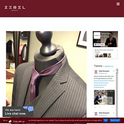 Difference between off the peg and a Zebel Bespoke suits