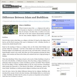 Difference Between Islam and Buddhism | Difference Between | Islam vs Buddhism
