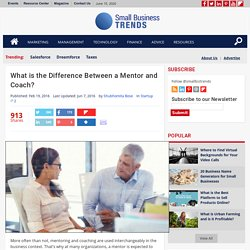 What is the Difference Between a Mentor and Coach? - Small Business Trends