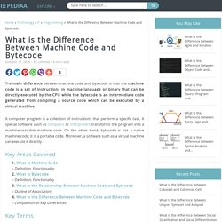 What is the Difference Between Machine Code and Bytecode - Pediaa.Com