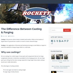 The Difference Between Casting & Forging – Rockett Inc
