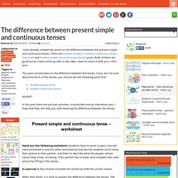 The difference between present simple and continuous tenses