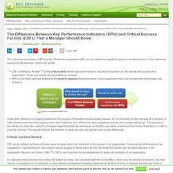 The Difference Between KPIs and Critical Success Factors