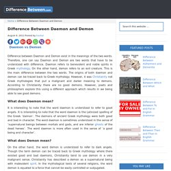 Difference Between Daemon and Demon