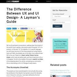 The Difference Between UX and UI Design- A Layman's Guide