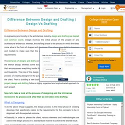 Difference Between Design and Drafting