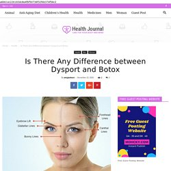 Is There Any Difference between Dysport and Botox