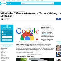 The Difference Between a Chrome Web App and an Extension