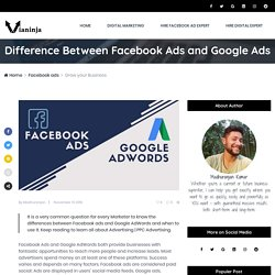 Difference Between Facebook Ads and Google Ads