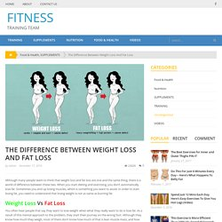 The Difference Between Weight Loss And Fat Loss – FITNESS