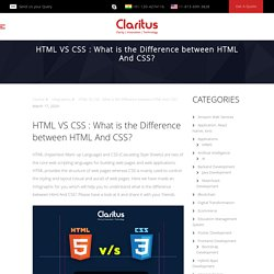 HTML VS CSS : What is the Difference between HTML And CSS? [infographic]