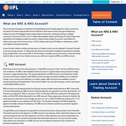 Difference between NRE and NRO Account - India Infoline