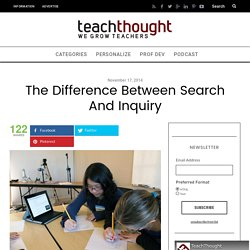 The Difference Between Search And Inquiry