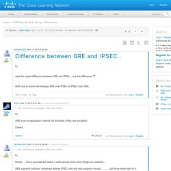 Difference between GRE and IPSEC.. - 23243