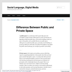 Difference Between Public and Private Space