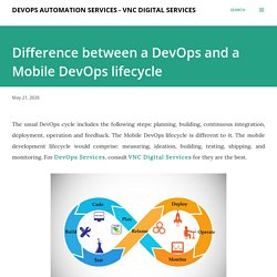 Difference between a DevOps and a Mobile DevOps lifecycle