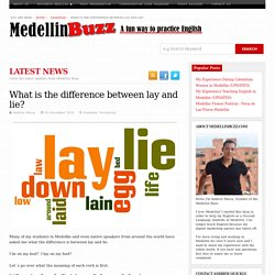 What is the difference between lay and lie? - Medellin Buzz
