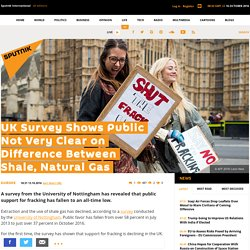 UK Survey: Public Not Clear on Difference Between Shale, Natural Gas