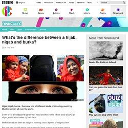 What's the difference between a hijab, niqab and burka? - CBBC Newsround
