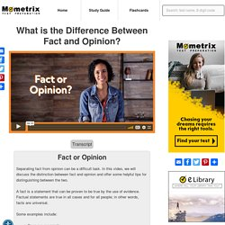 What is the Difference Between Fact and Opinion? [Video]