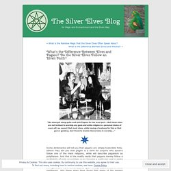 What's the Difference Between Elves and Pagans? Do the Silver Elves Follow an Elven Faith?