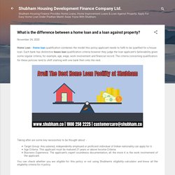 What is the difference between a home loan and a loan against property?