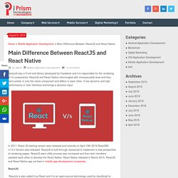 Main Difference Between ReactJS and React Native
