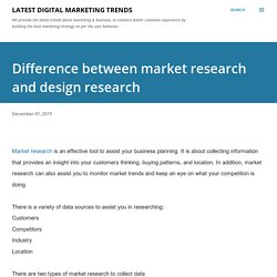 Difference between market research and design research
