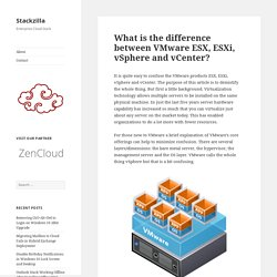 What is the difference between VMware ESX, ESXi, vSphere and vCenter? – Stackzilla