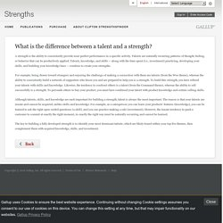 What is the difference between a talent and a strength?