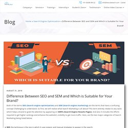 Which Is Suitable For Your Business - SEO VS SEM
