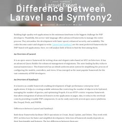 Difference between Laravel and Symfony2 - Hire Laravel Expert - Blog