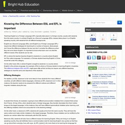 The Difference Between ESL and EFL: Teaching English