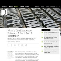 What's The Difference Between A Font And A Typeface?