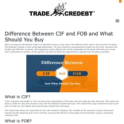 Difference Between CIF and FOB and What Should You Buy