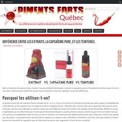 Différence entre les extraits, la capsaïcine pure, et les teintures. – Piments Forts Quebec
