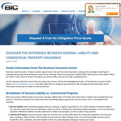 Discover the Difference between General Liability and Commercial Property Insurance