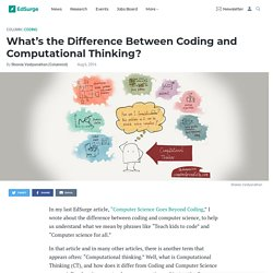 What's the Difference Between Coding and Computational Thinking?