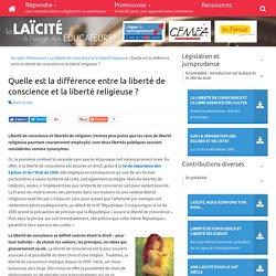 Quelle est la différence entre la liberté de conscience et la liberté religieuse ? - laicite-educateurs.org
