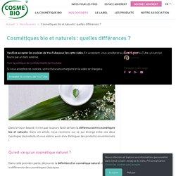 Quelle différence entre cosmétique bio et naturel ?
