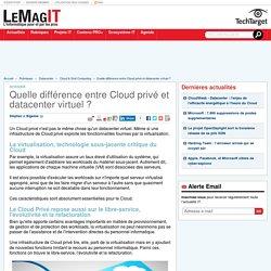 Quelle différence entre Cloud privé et datacenter virtuel ?