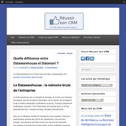Quelle différence entre Datawarehouse et Datamart ?