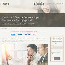 What's the Difference Between Buyer Personas and Demographics?