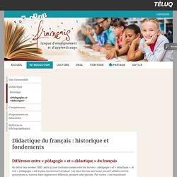 Différence entre « pédagogie » et « didactique » du français – EDU 1022