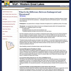 USFWS: What Is the Difference Between Endangered and Threatened?