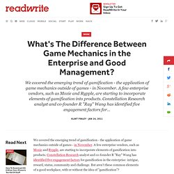 What's The Difference Between Game Mechanics in the Enterprise and Good Management?