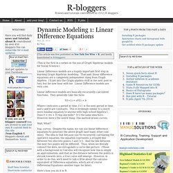Dynamic Modeling 1: Linear Difference Equations