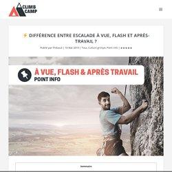⚡ Différence entre escalade à vue, flash et après-travail ? - Climb Camp